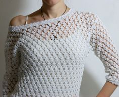 Click to view pattern for - Openwork sweater
