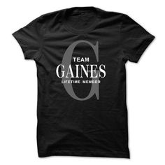 Team GAINES Lifetime member - #funny gift #gift exchange. BUY TODAY AND SAVE => https://www.sunfrog.com/Names/Team-GAINES-Lifetime-member.html?68278