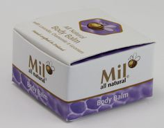 Pretty body balm box created by Priory Press Packaging. www.priorypresspackaging.co.uk