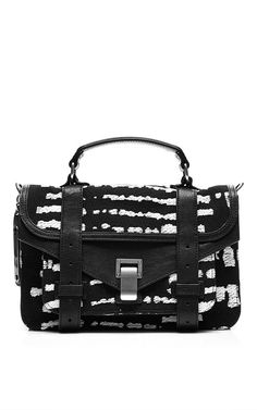 b857b21f96 PS1 Wool-Blend Jacquard Satchel by Proenza Schouler Now Available on Moda  Operandi Black And