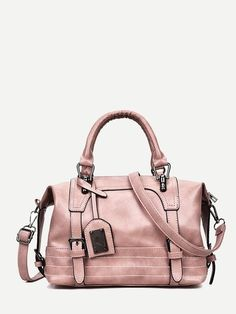 025684cd7fe Product name: Double Buckle Detail Bowling Bag at SHEIN, Category: Satchels