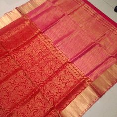 Buy KSS7600003-THAMBOORI's Handwoven brocade kanjeevaram-Red with pink beauty, 850g online - Handwoven Kanchivarams,Soft Silks, Silk Cottons and Tussars!