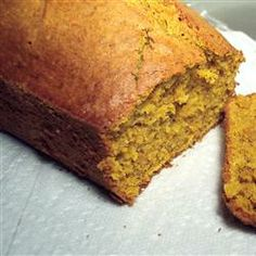 Healthy pumpkin bread - really good and moist. Click for recipe