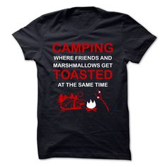 CAMPING TOASTED T-Shirts, Hoodies. BUY IT NOW ==► https://www.sunfrog.com/Outdoor/CAMPING-TOASTED.html?41382