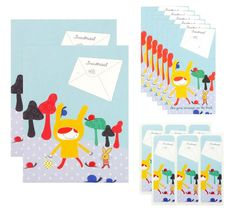 Snailmail Notecards & Stickers www.hipenstipkaarten.nl