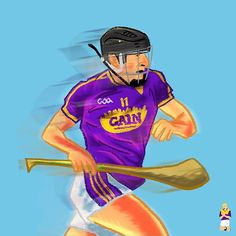 Liam Óg McGovern Wexford and the Annes. Sports Art, Artwork Design, Third, Ireland, Illustration, Fictional Characters, Instagram, Illustrations, Irish
