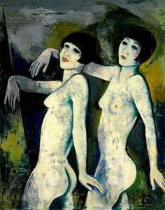 """The Tiller-girls"", Karl Hofer, 1927"