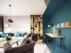 Casinha colorida: Um loft colorido, engenhoso e geométrico inesquecível!