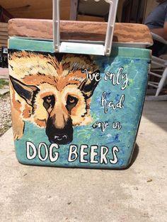 Dog Beers Handprinted cooler