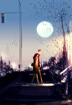 """""""If Life Was Made On Canvas"""": Heartwarming Illustrations By Pascal Campion Couple Illustration, Digital Illustration, Vincent Van Gogh, Pascal Campion, Couple Art, Pics Art, Amazing Art, Concept Art, Art Photography"""