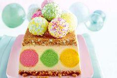 Ice Cream Cake with Sprinkled Cake Pops