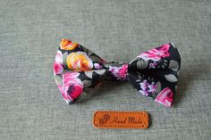 Vintage Korean Cotton Floral Bow Tie - 9 Floral Styles to Choose from