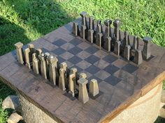 Chess Set Blacksmith Made by EchoHillForge on Etsy