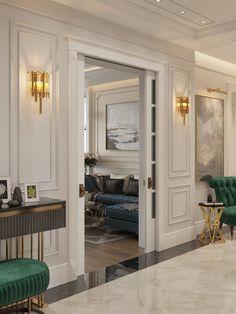 Home Room Design, Dining Room Design, Home Interior Design, Modern Classic Interior, Neoclassical Interior, Home Entrance Decor, Luxury Homes Interior, Floor Design, House Rooms