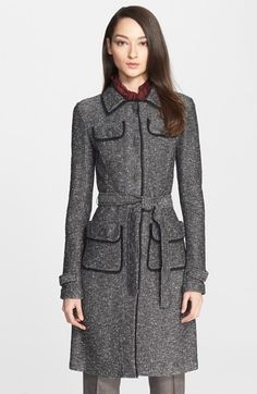 St. John Collection Flecked Tweed Knit Topper available at #Nordstrom