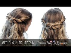 How To: Easy Twisted Tieback | Half Up Hairstyles | Pretty Hair is Fun - YouTubeBraid Hairstyles, Braids, braids tutorial, braids for short hair, braids for short hair tutorial, braids for long hair, braids for long hair tutorials...