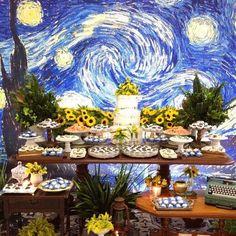 Twin Boys Birthdays, Wedding Decor, Artist Van Gogh, Instagram Tbt, Starry Night Wedding, Boy Birthday, Brother, Table Decorations, Painting