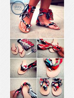 Maiko Nagao - diy, craft, fashion   design blog: DIY fashion upcycle sandals tutorial