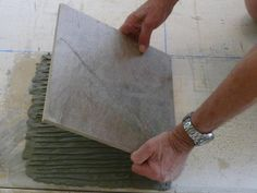 Installing Slate Floor Tiles: Setting the Tiles