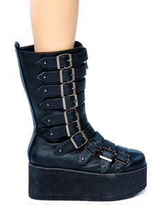 Paris Platform Boots dish out 90's vibes with major cyber punk appeal. www.dollskill.com