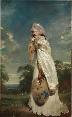 Elizabeth Farren (born about 1759, died 1829), Later Countess of Derby  Sir Thomas Lawrence  (English, Bristol 1769–1830 London)    Date:      1790  Medium:      Oil on canvas  Dimensions:      94 x 57 1/2 in. (238.8 x 146.1 cm)  Classification:      Paintings  Credit Line:      Bequest of Edward S. Harkness, 1940