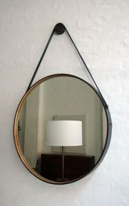 "Oh the beloved ""Captain's Mirror"" ; diy mirror - ikea mirror and old belts"