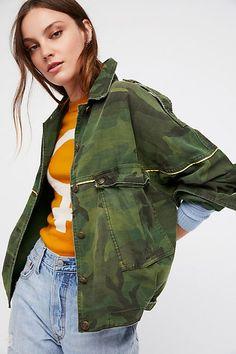 6a5d26d1d8333 Slide View 1: Slouchy Military Jacket Pocket Detail, Belt Buckles, Fall  Jackets,