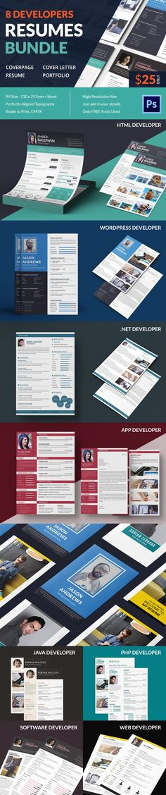 Hired CV template graphic concept Marketing Pinterest Cv - net developer resume