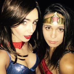 """Lily Collins's image - """"Happy birthday to the most beautiful cat woman I know. I adore your positive spirit, empowering soul and stunning heart @Ciara. Loved celebr"""" on WhoSay"""