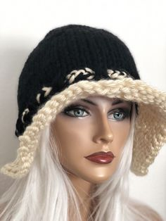6ee016c80de Hand Knits 2 Love Hat Slouch Valance Designer Fashion Tie Adjustable Winter  Chi  fashion