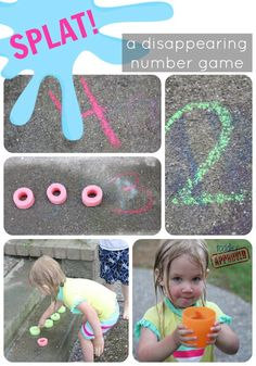 "Toddler Approved fun ""Splat disappearing number game for kids"" to go with Leo Lionni's ""Colours, Numbers, Letters"""