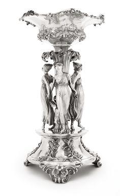 A William IV silver figural centerpiece, Edward, Edward Jr., John and W. Barnard, London, 1832 Sotheby's