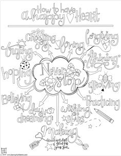 How To Have a Happy Heart Coloring Page | www.tammytutterow.com