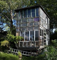 recycled greenhouse...i know some people who hoard windows...