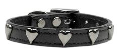 Straight to a puppy dogs heart. What could be better for your puppy dog than hearts and a genuine leather collar? A wide genuine leather collar with one ro Leather Rivets, Black Leather, Dog Muzzle, Thing 1, Leather Dog Collars, Chrome Plating, Timeless Fashion, Pink Purple, Belt