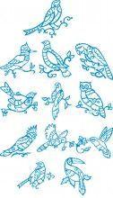 Bluework Bird Designs
