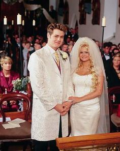 """Jan. 5, 2002: He has since called their union 'shambolic,' but pop stars Brian McFadden and Kerry Katona were married in front of family, friends, and Hello! at Church of the Immaculate Conception in Rathfeigh, Ireland, with a reception at Slane Castle outside his native Dublin. (He proposed to her outside Doe Castle in Donegal, too - same spot his grandparents got engaged years earlier.) The """"big, Irish family wedding"""" went late, despite the couple's 4-month-old daughter Molly turning in…"""