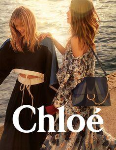 Luna Bijl, Dutch model and Ulrikke Hoyer, Danish model for CHLOE Spring/Summer 2017 Ad Campaign | via www.orientsystem.com