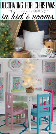 So simple!!! Just 2 items in each kid's room!! LOVE easy decorating for Christmas ideas!!