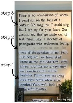 Diy song lyric wall art on dropcloth canvas share todays craft diy song lyric sign via house by hoff solutioingenieria Image collections