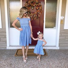 I love these gingham dresses