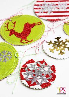 Fabric Gift Tag Tutorial www.positivelysplendid.com