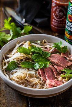 Cajun Delicacies Is A Lot More Than Just Yet Another Food Easy Vietnamese Pho Noodle Soup - Want To Get A Hearty Bowl Of Vietnamese Pho Noodle Soup On The Table Within 30 Minutes? Asian Recipes, Beef Recipes, Soup Recipes, Cooking Recipes, Beef Pho Soup Recipe, Asian Desserts, Pho Recipe Easy, Recipes With Pho Noodles, Slow Cooker Pho Recipe