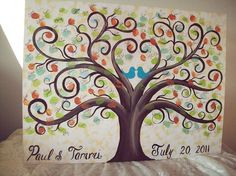 Wedding Guestbook thumbprint tree