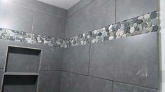Here is the after flooring went with large gray tiles - Lowe s home improvement bathroom tile ...
