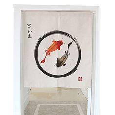 Lifeast Japanese Noren Door Curtain Chinese Door-god Bedroom Doorway Door and Window Treatment Curtain Yellow