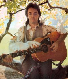 Paul McCartney, from the cover shoot for Wings' debut, Wild Life, 1971.