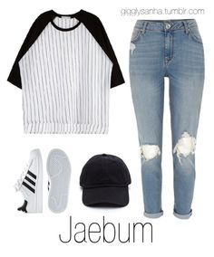"""Casual LA Date // Jaebum"" by suga-infires ❤ liked on Polyvore featuring River Island and adidas"