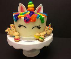 [Homemade] Lisa Frank inspired unicorn cake and macarons http://ift.tt/2jxrBXl #TimBeta