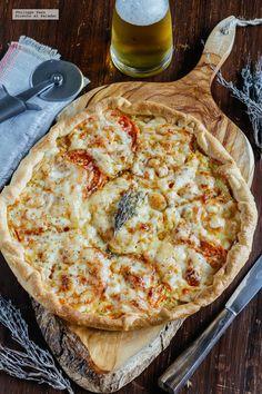 Tarta de jitomate y queso Provolone. Receta fácil